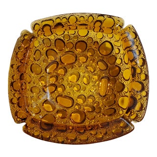 Vintage Amber Ashtray by Libby For Sale