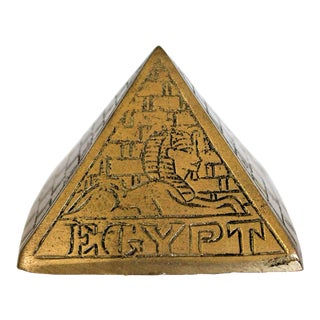 Brass Pyramid Paperweight For Sale