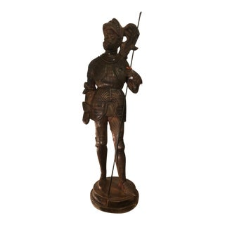Antique Terracotta Sculpture of a Conquistador - Bois Guilbert For Sale