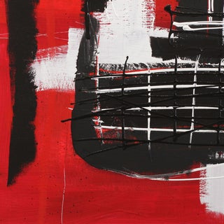 """Soren Grau """"Square in the Face, Red"""" Contemporary Painting For Sale"""