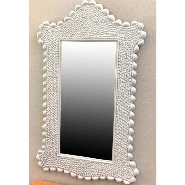 Mid-Century Modern Mid Century Serge Roche Style Shell Encrusted Mirror For Sale - Image 3 of 8