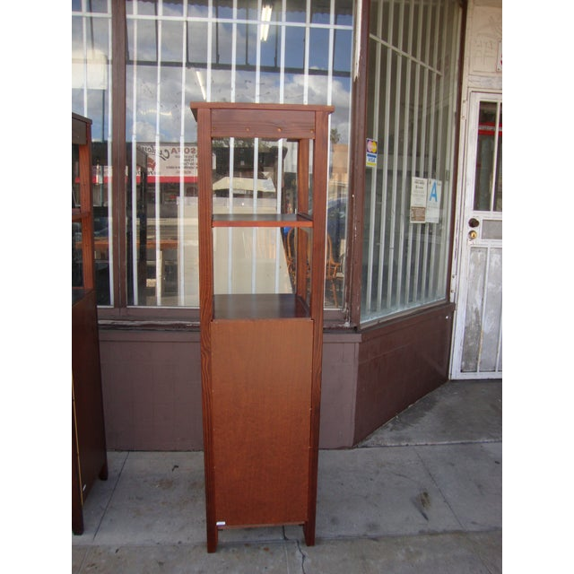 1980s Wooden Wine Cabinets - a Pair For Sale - Image 9 of 11