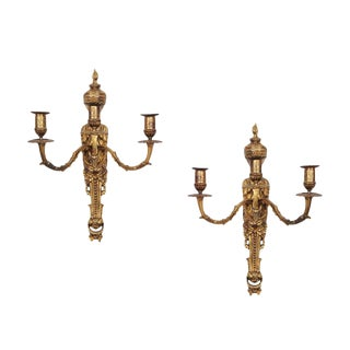 Louis XV Style Brass Sconces - a Pair For Sale