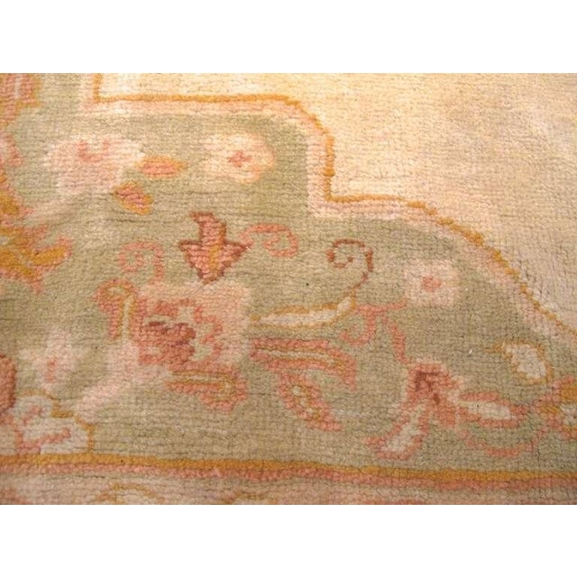Oushak Carpet with Delicate Palette For Sale In San Francisco - Image 6 of 7