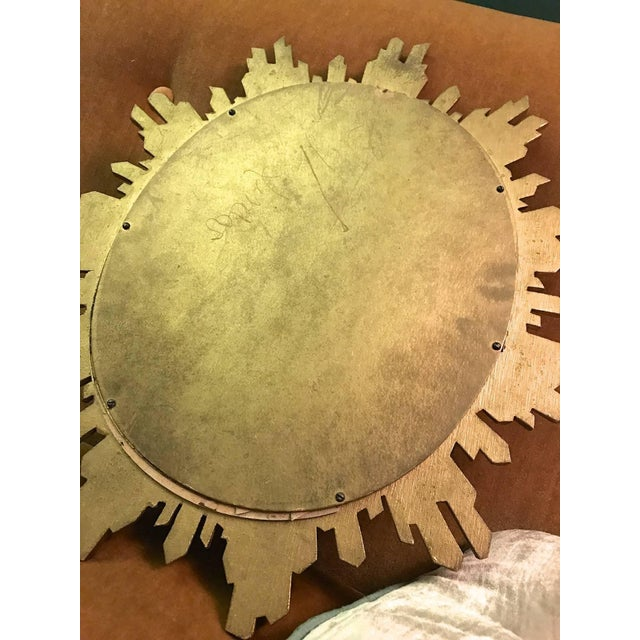 1950s 1960s Hollywood Regency Revival Giltwood Wall Mirror For Sale - Image 5 of 6