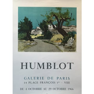 1966 Humblot French Exhibition Poster For Sale