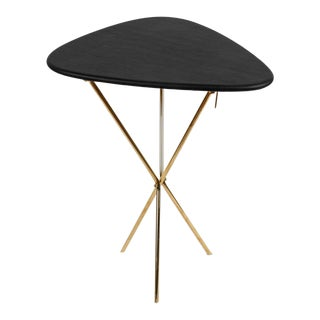 Carl Auböck Model #3642 Brass and Leather Side Table