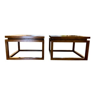 Mid Century Modern Cube End Tables - a Pair For Sale