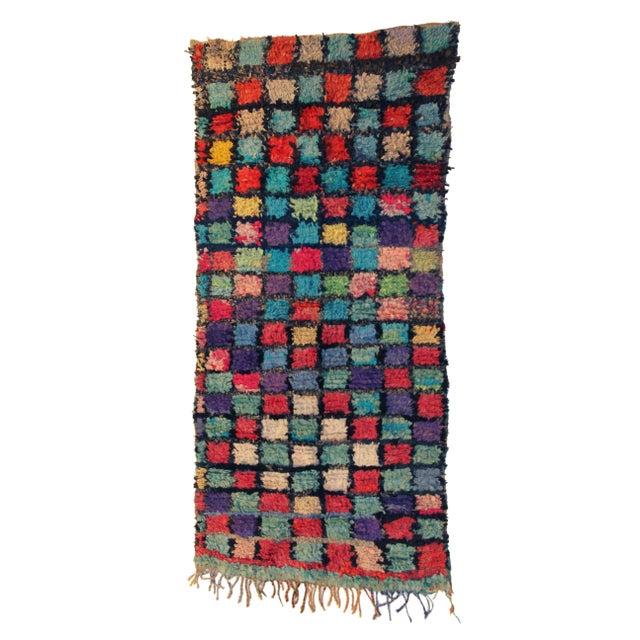 Vintage Boucherouite Carpet 3 5 Quot X 6 8 Quot Chairish