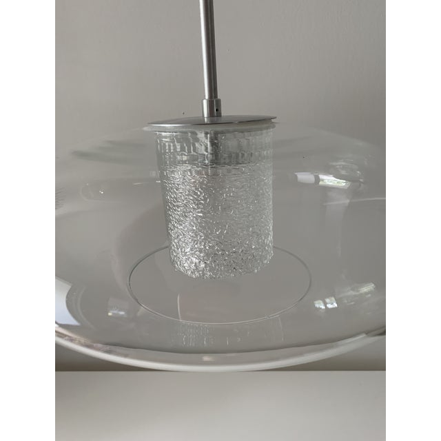 """Quoizel Modern """"Ice"""" Hanging Glass Globe Chandelier For Sale - Image 4 of 13"""