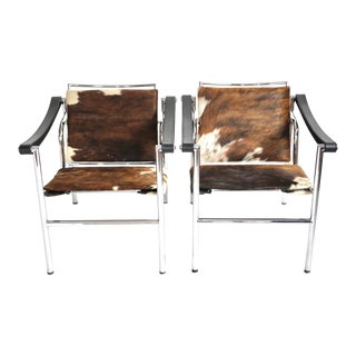 """1990s Le Corbusier Lc1 """"Pampas"""" Sling Armchairs - a Pair For Sale"""