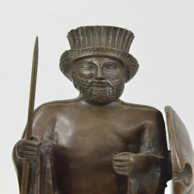 Gold Cyrus the Great Persian King Kanaev Bronze Sculpture Marble Base Statue For Sale - Image 8 of 9