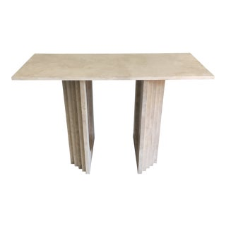 1970s Italian Travertine Console Table For Sale