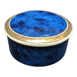 Japanese Lapis Trinket Box