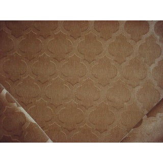 Kravet Couture Ornamental Panne Sand Drapery Upholstery Fabric - 3.75 Yards For Sale