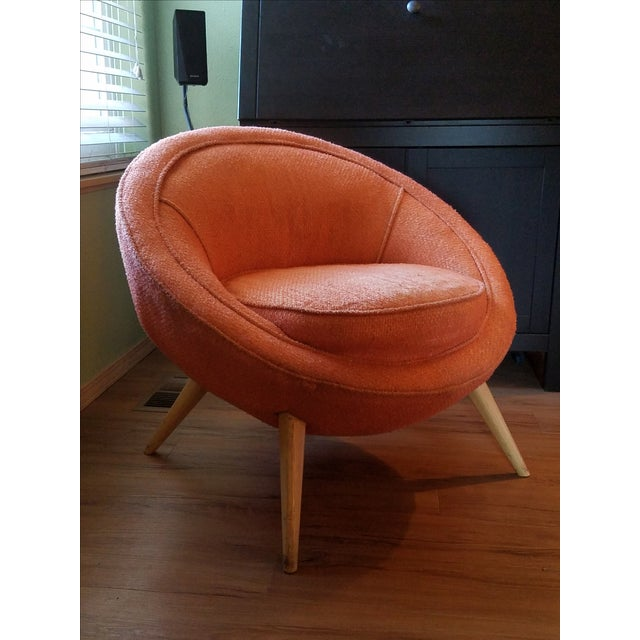 Jean Royere-Style Egg Chair - Image 2 of 5