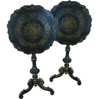 Mid 19th Century Chinoiserie Swedish Tilt-Top Tables- a Pair For Sale