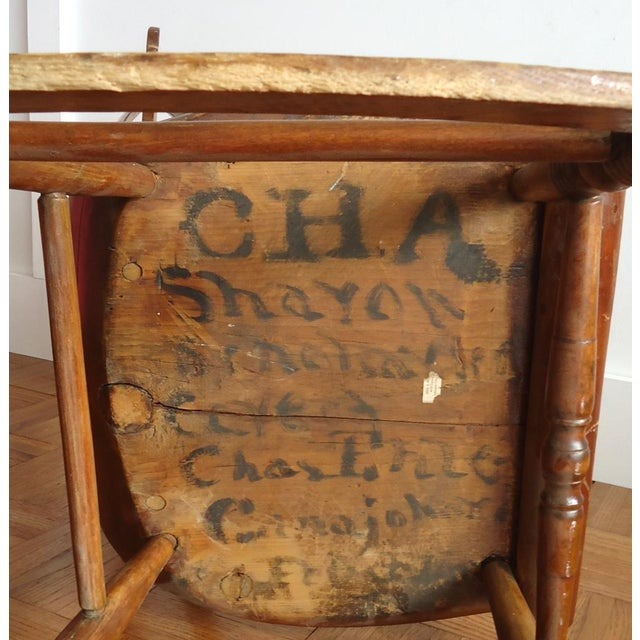 Brown Antique Primitive Rocking Chair For Sale - Image 8 of 8