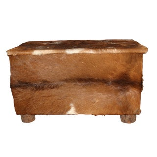 Deer-Hide Covered Primitive Trunk For Sale
