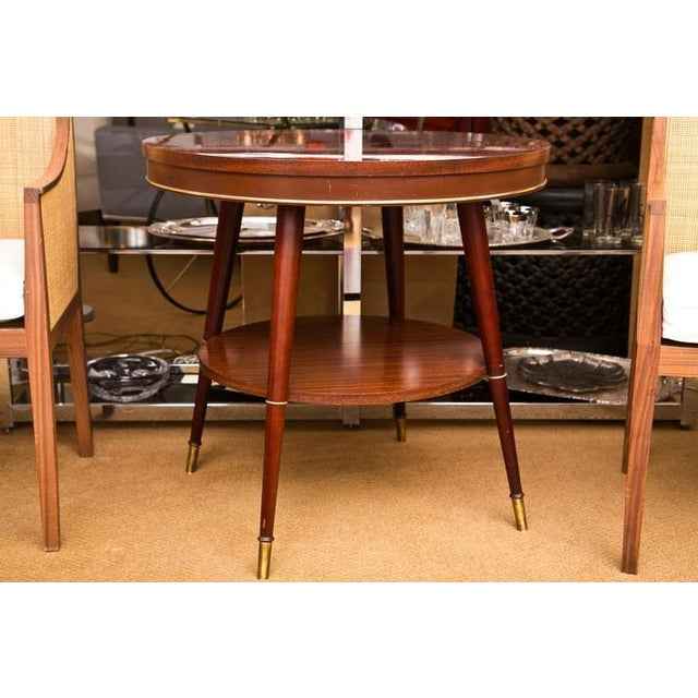 Faux Rosewood Table - Image 2 of 7