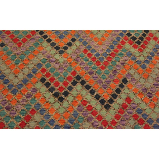 Textile Shabby Chic Lani Gray/Blue Hand-Woven Kilim Wool Rug -5'9 X 7'11 For Sale - Image 7 of 8