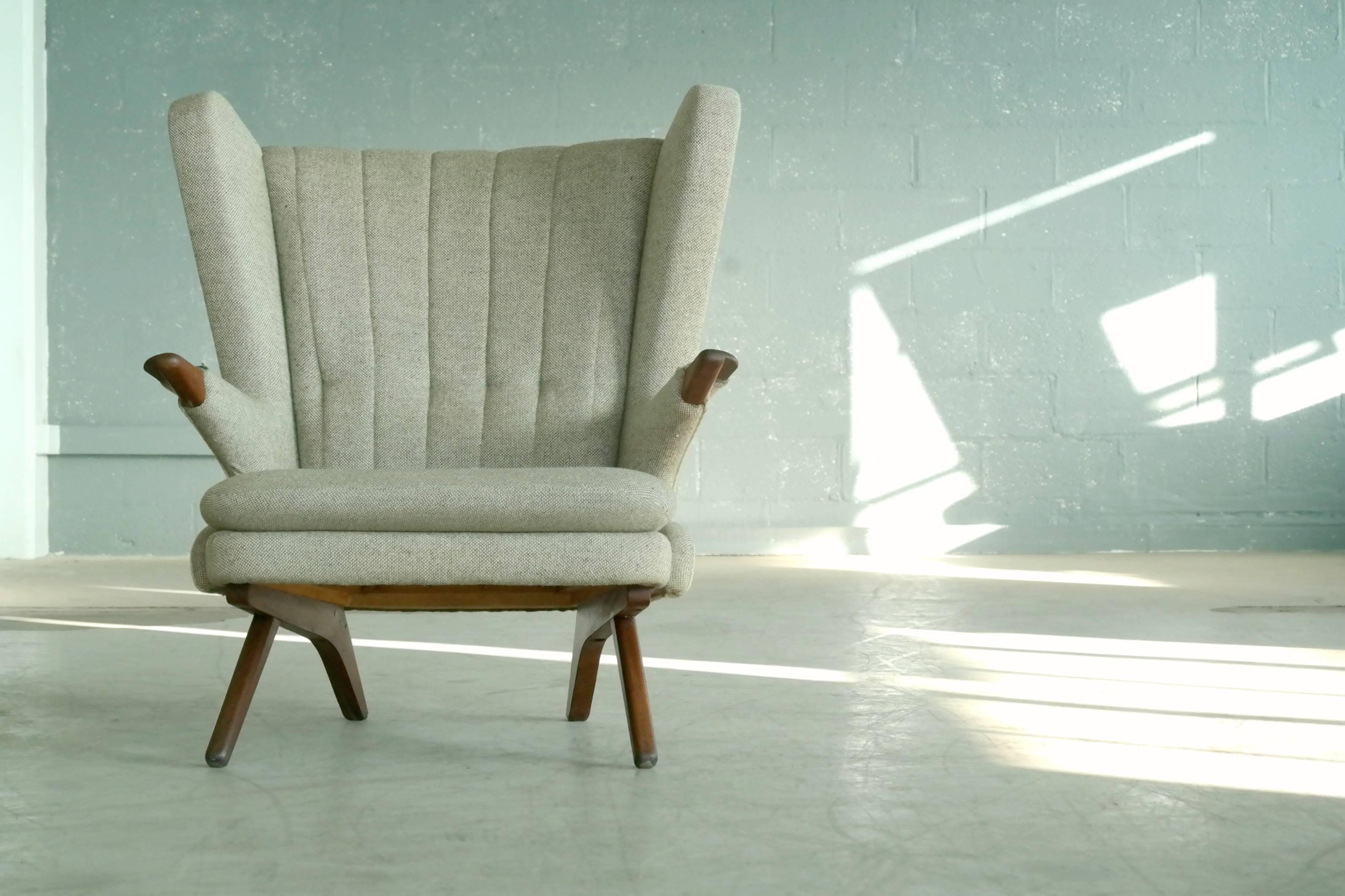 papa bear chair stamp original danish high back papa bear chair designed in the 1960s by svend skipper as model worldclass chair model 91 sven decaso