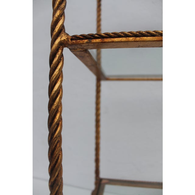 Italian Gold Rope & Tassel Etagere - Image 4 of 7