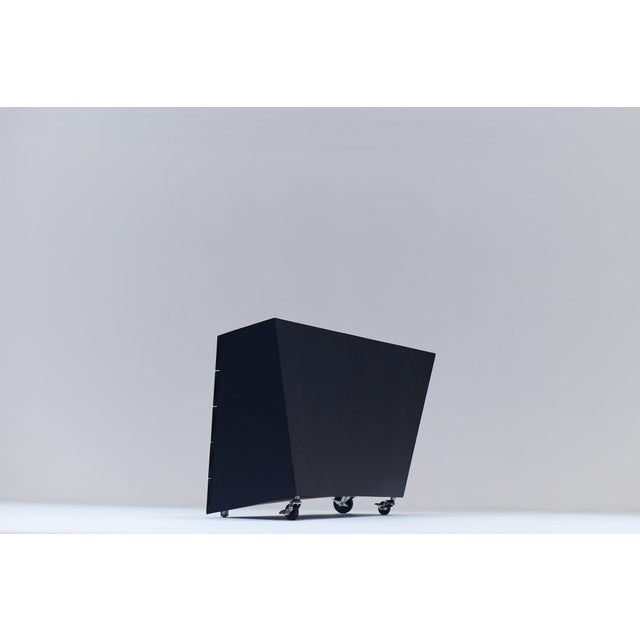 "Black 1982 ""Wil Toro"" Cabinet by Mireille Rivier & Paolo Pallucco For Sale - Image 8 of 13"