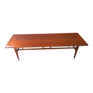 1960s Mid-Century Modern Lane Acclaim Cocktail Coffee Table For Sale