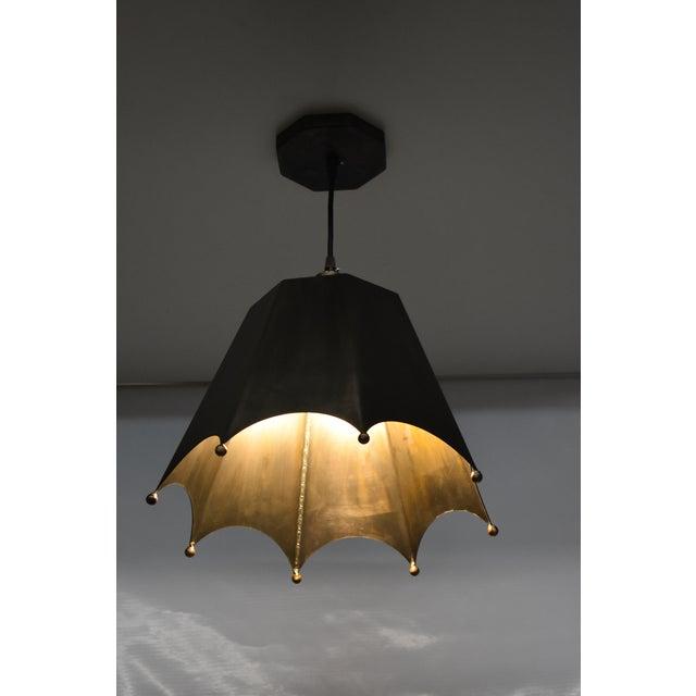 Crown Motif Pendant Light by Douglas Werner for Oblik Studio For Sale - Image 4 of 5