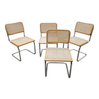 Marcel Breuer Cesca Chairs Set 4 For Sale