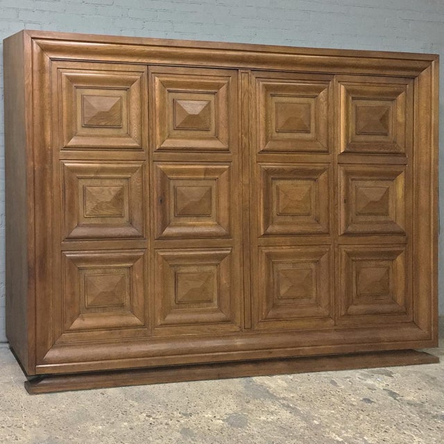 Mid-Century Modern Grand Oak Bookcase For Sale - Image 11 of 11