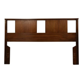 Mid-Century Modern Walnut Full Headboard For Sale