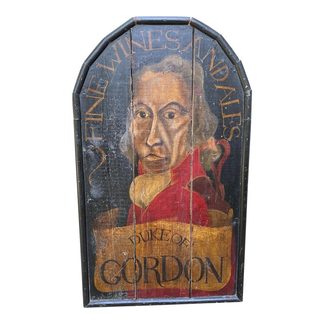 English Handpainted Pub Sign For Sale