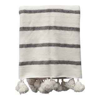 Moroccan Pom Blanket For Sale