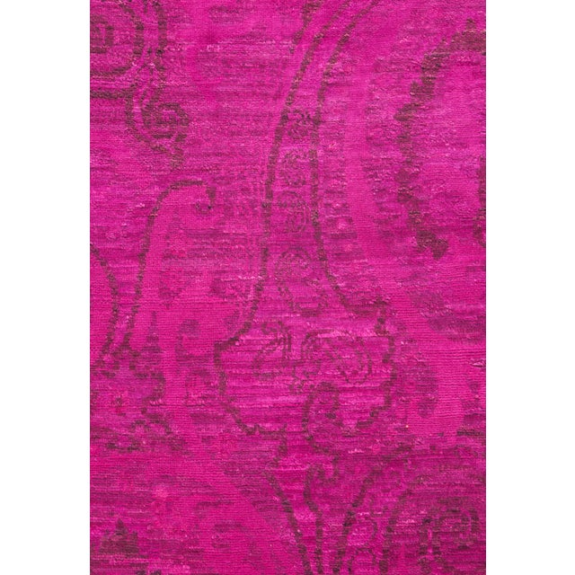 """Boho Chic Vibrance Hand Knotted Area Rug - 6'1"""" X 9'3"""" For Sale - Image 3 of 3"""