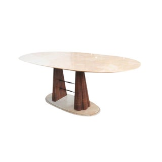 1950's Mid-Century Modern Osvaldo Borsani Oval Marble Top and Base Table For Sale