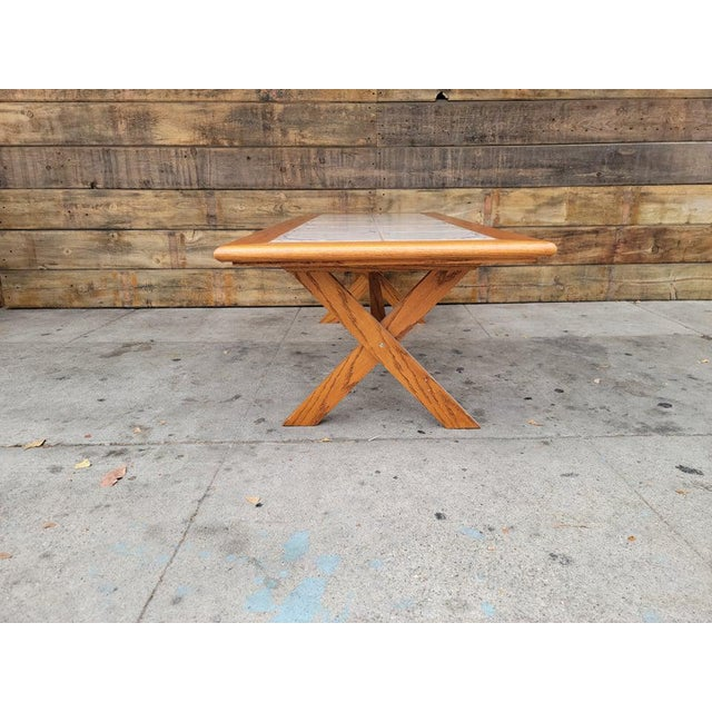 1980s Vintage Tile Top Coffee Table For Sale - Image 9 of 13