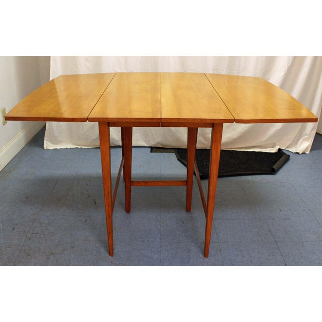 Mid-Century Modern Paul McCobb Planner Group Drop Leaf Dining Table For Sale - Image 12 of 12