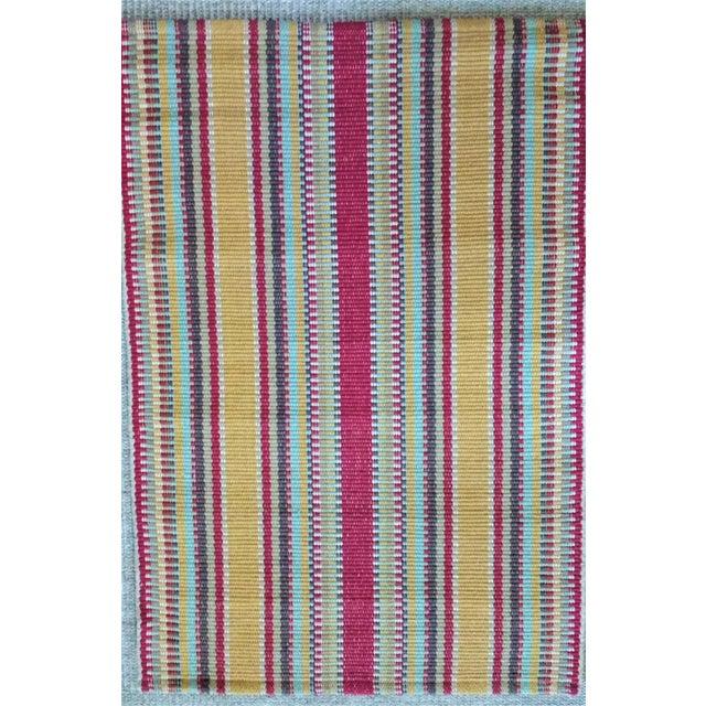 Cotton Dash & Albert Wyatt Cotton Woven Rug - 2′ × 3′ For Sale - Image 7 of 7