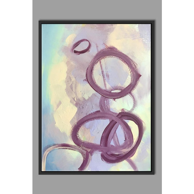 """""""Abstract Purple Rings"""" Framed Fine Art Giclée - Image 2 of 3"""
