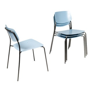 Dietiker Arik Levy Blue Felber C18 Patio Chairs - Set of 4 For Sale