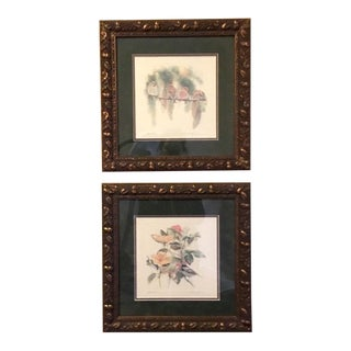 1990s Kathleen Chaney Fritz Signed and Numbered Lithograph Prints - A Pair For Sale