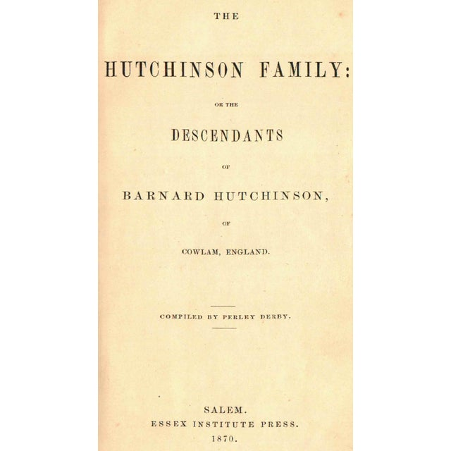 """""""Hutchinson Family of New England"""" by Perley Derby - Image 2 of 2"""