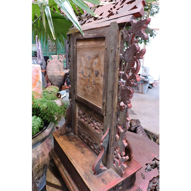 Ornately Carved Vanity Mirror From Madura Island For Sale In San Francisco - Image 6 of 7