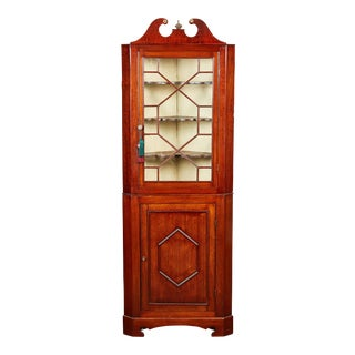 19th Century Edwardian Mahogany Corner Cabinet For Sale
