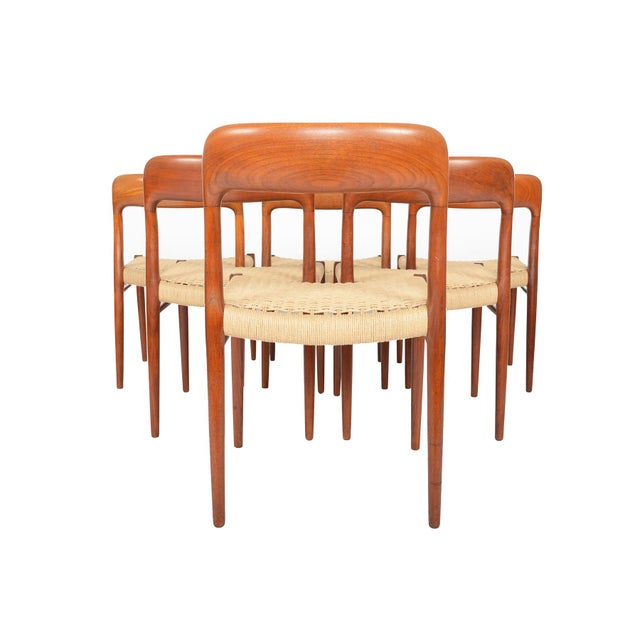 Møller Model 75 Teak Dining Chairs - Set of 6 - Image 7 of 10