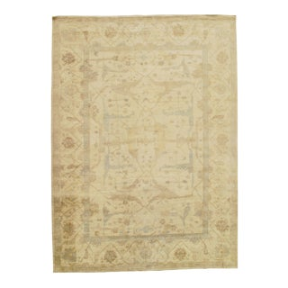 """Traditional Pasargad N Y Original Oushak Design Hand-Knotted Rug - 10'1"""" X 14'"""