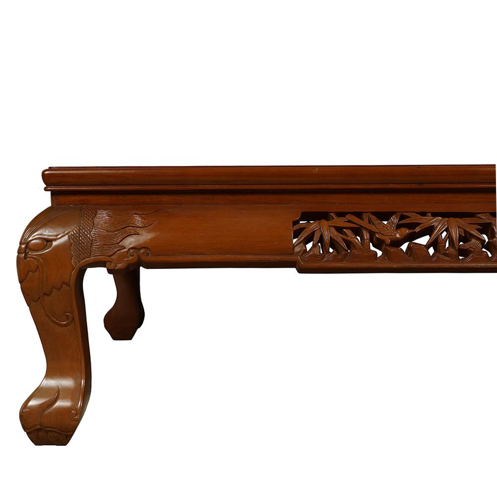 Vintage Chinese Rosewood Carved Coffee Table For Sale   Image 4 Of 13