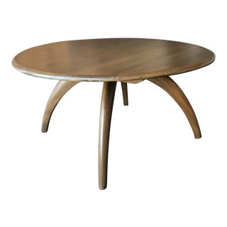 Heywood Wakefield Revolving Round Lazy Susan Coffee Table in Sable For Sale